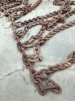 Tire chains for loader