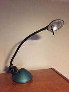 Green desk reading lamp