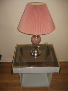 Lamp plus Side Table Set  [ 2 sets available ]