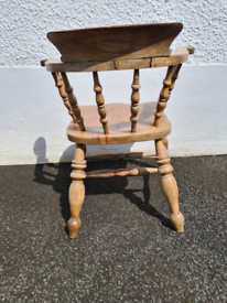 Antique Captain's Bow Chair/ Smoker's chair