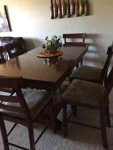 Large Pub Style Dining Set with 6 Chairs
