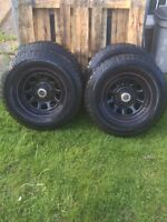 """16"""" steel wheels and tires"""