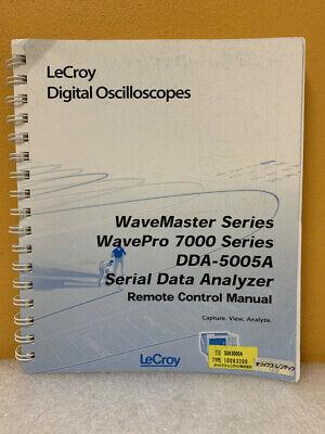 Lecroy Wavemaster Wavepro 7000 Dda-5005a Data Analyzer Remote Control Manual