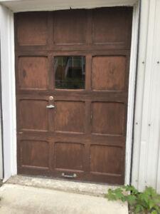 Porte de garage (remise) en bois 5x7