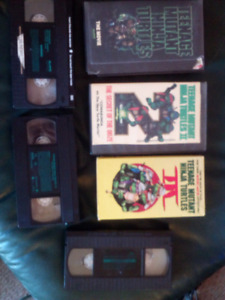 Teenage mutant ninja turtles 1, 2 and 3 .VHS VIDEO CASSETTES