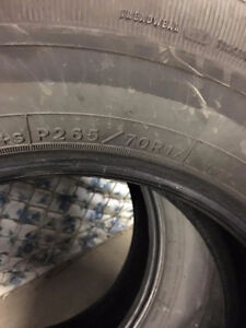 Tires for Sale P265 70R17s