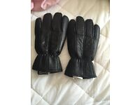 100% real leather gloves