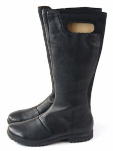 Ladies Black Winter Boots Size 6.5