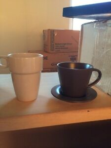 Brown Ikea Mugs and Saucers Kitchener / Waterloo Kitchener Area image 1