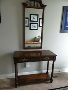 Table and Framed Mirror by Knechtel Furniture Co