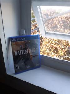 Battlefield 1 PS4 35$ (état parfait)