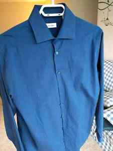 Brand new Calvin Klein dress shirt (dark blue 15.5/34/35) London Ontario image 2