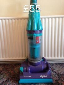 DYSON DC07 FULLY SERVICED MINT CONDITION SIX MONTHS WARRANTY BLUE AND PURPLE