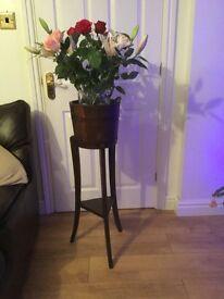 Lovely antique oak barrel pot stand