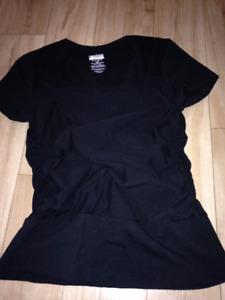 T-shirt peau à peau VIJA design noir large