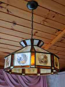 Beautiful stained glass light fixture
