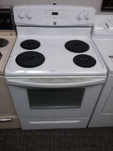 White Kenmore Stove with Full Warranty