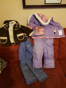 Girls 3t snow pants and jackets