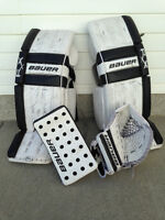 Bauer Hockey Goalie Pads and Gloves