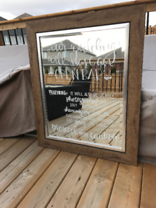 Wedding Mirror with Calligraphy - add on rental items available!