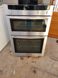 Neff U1422N0GB double electric oven built in 60cm