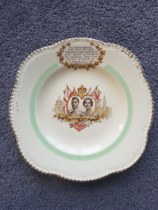 Woods Ivory Ware 1939 Royal Commemorative Plate