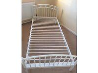 Next girls white single bed