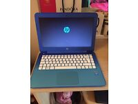 Blue HP Laptop computer