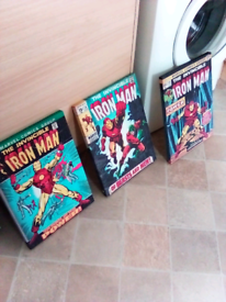 """Iron Man on canvas three in total 12""""x16"""""""