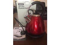 Brand new Homebase 1.8 litre pyramid kettle