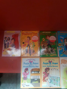 Girls books Madison Finn and Junie B Jones and Judy Blume