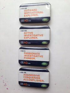 Land Rover Promotional buttons x 4