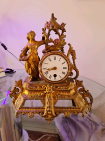 French spelter clock. Working but in need of some restoration