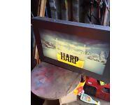 Harp lager light up sign