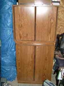 2 Sauder Media Cabinets Stackable