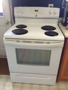 White Kenmore Stove for sale. Great Condition!