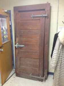 Awesome antique freezer door.