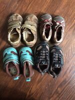 Collection of baby boy shoes