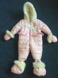 Mayoral Snowsuit Baby Girl 3 months Brand New