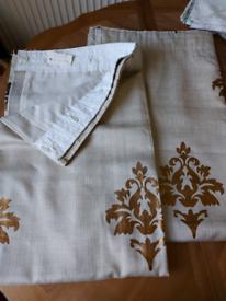 Curtains beige gold linen 64 x 52