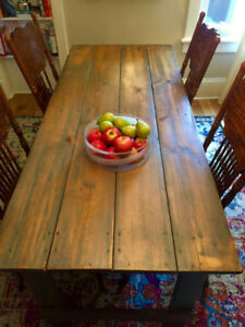 Vintage Factory Wood Dining Table