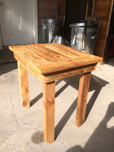 Custom wood tables. Coffee/side table/bar stool and more
