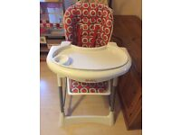 Red kite feed me ultimo highchair