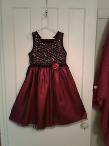 Girls size 12 Satin& Sequined Dress