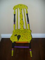 Handpainted Halloween Themed Chairs by Not 2 Shabby Sisters