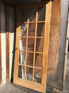 """French door. Size : 34"""" x 79"""".one white and one brown.PRIMER"""