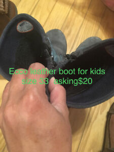 Kids Ecco leather lined boot