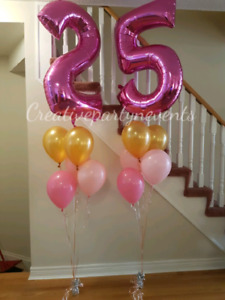 HELIUM BALLOONS, ARCHES, COLUMNS AND MUCH MORE