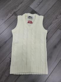 Slazenger cricket sleeveless sweater/vest chunky cable knit size 6 or