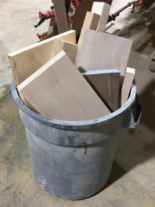 60lbs of scrap wood, great for crafts and DIY projects